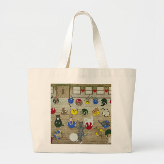 Keeping fit large tote bag