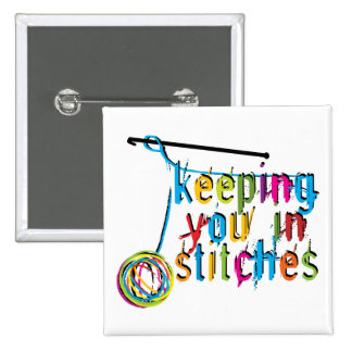 keeping you in stitches-crochet 15 cm square badge