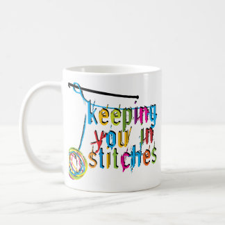 Keeping You In Stitches - Crochet Coffee Mug
