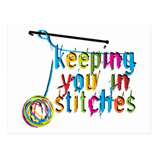 keeping you in stitches-crochet postcard