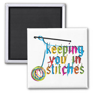 keeping you in stitches-crochet square magnet