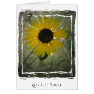 KeepLifeSimple Sunflower Card