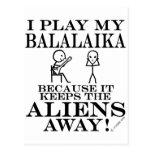 Keeps Aliens Away Balalaika Postcard