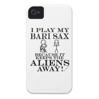 Keeps Aliens Away Bari Sax iPhone 4 Case-Mate Case