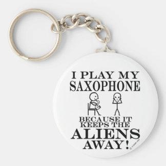 Keeps Aliens Away Saxophone Key Ring