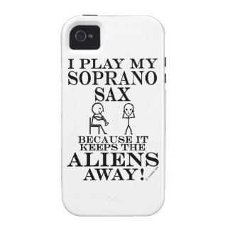 Keeps Aliens Away Soprano Sax Vibe iPhone 4 Covers