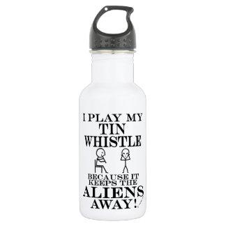 Keeps Aliens Away Tin Whistle 532 Ml Water Bottle