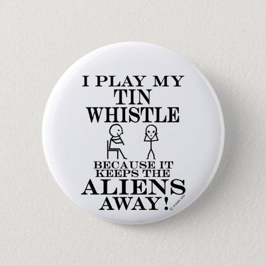 Keeps Aliens Away Tin Whistle 6 Cm Round