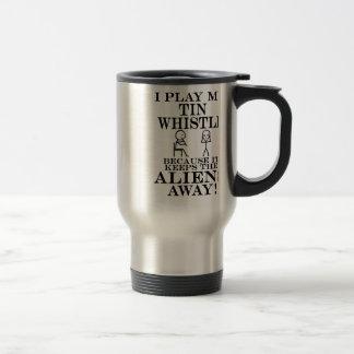 Keeps Aliens Away Tin Whistle Stainless Steel Travel Mug