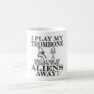 Keeps Aliens Away Trombone Coffee Mug