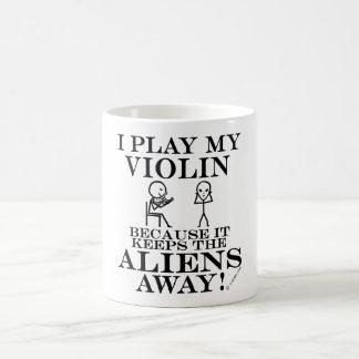 Keeps Aliens Away Violin Coffee Mug
