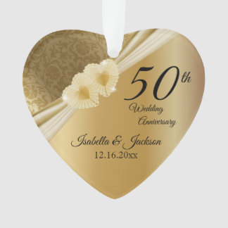 Keepsake 50th Gold Wedding Anniversary Ornament