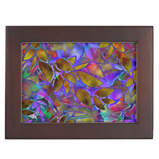 Keepsake Box Floral Abstract Stained Glass