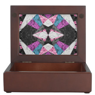 Keepsake Box Marble Geometric Background G438