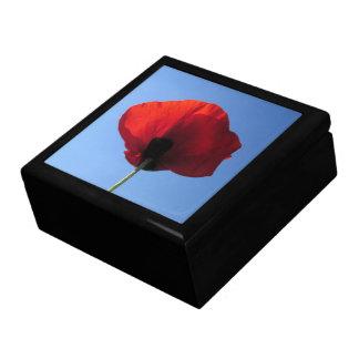 Keepsake Box - Red Poppy Blue Sky