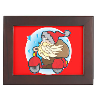 Keepsake Box with Santa Claus