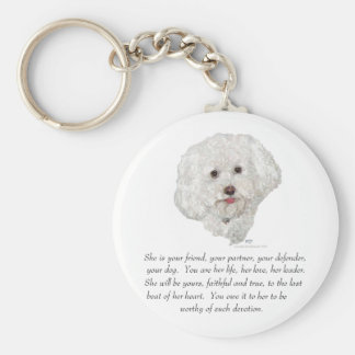 Keepsake, Female Dog Basic Round Button Key Ring