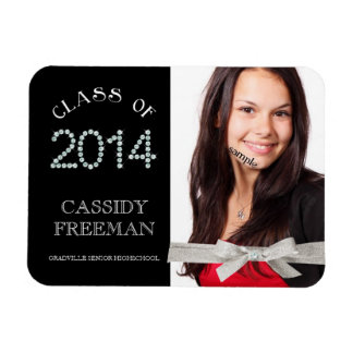 Keepsake Grad Class of 2014 Bling Diamonds Rectangular Photo Magnet