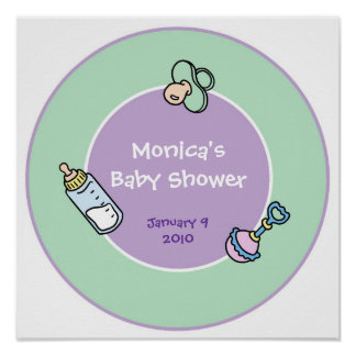 Keepsake Party Poster for Baby Shower