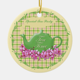 Keepsake Tea Time Teapot Christmas Ornament