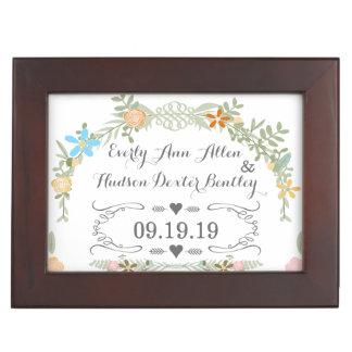 Keepsake Wedding Date Anniversary Box Memory Box