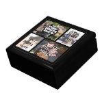 Keepsake Wood Jewellery/Valet Box, 4 Photo Collage