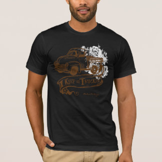 Keeptruckin'-withflowers-brown T-Shirt