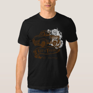 Keeptruckin'-withflowers-brown T Shirts