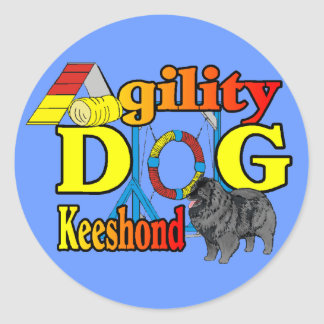 Keeshond Agility Gifts Classic Round Sticker