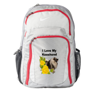 Keeshond and Yellow Roses Backpack