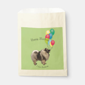 Keeshond and Yellow Roses Favour Bags
