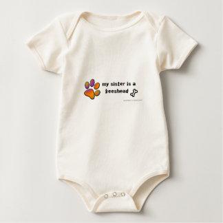 keeshond baby bodysuit