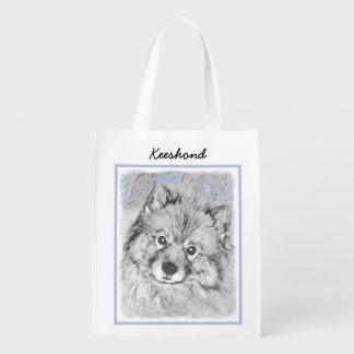 Keeshond (Beth) Reusable Grocery Bag