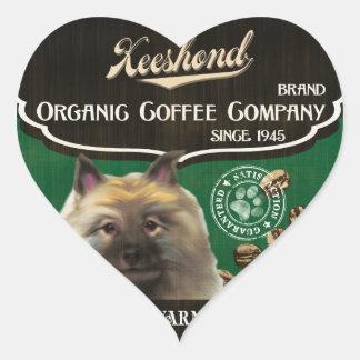 Keeshond Brand – Organic Coffee Company Heart Sticker