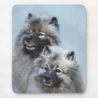 Keeshond Brothers Mouse Mat