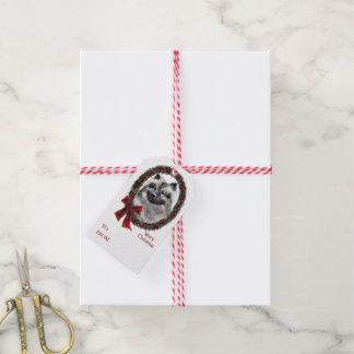 Keeshond Christmas Gift Tags