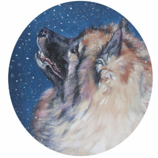 Keeshond Christmas Ornament Photo Sculpture Decoration