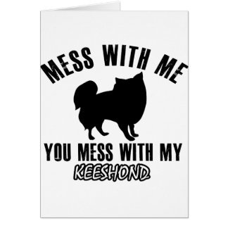 keeshond designs card