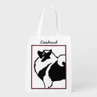 Keeshond Graphics Reusable Grocery Bag
