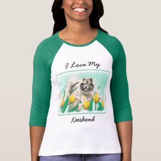 Keeshond in Tulips T-Shirt
