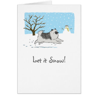 "Keeshond ""Let It Snow!"" Card"