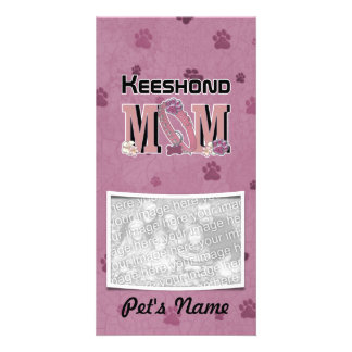 Keeshond MOM Personalized Photo Card