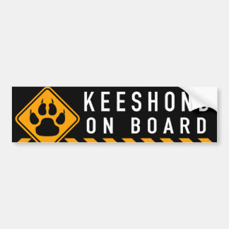 Keeshond On Board Bumper Sticker