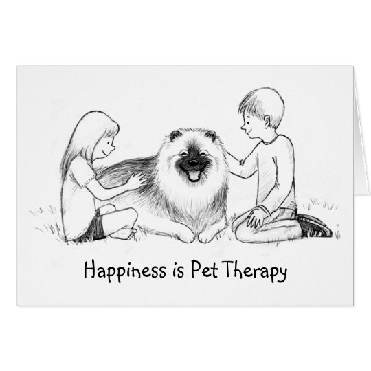Keeshond Pet Therapy with Customisable Text Card