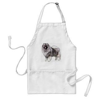 keeshond portrait standard apron