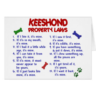KEESHOND Property Laws 2 Card