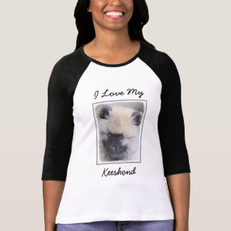 Keeshond Puppy (Painted) T-Shirt