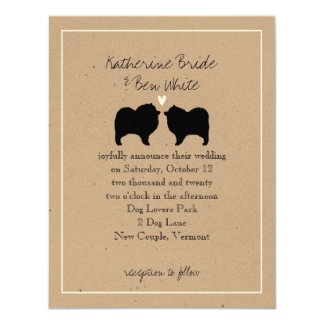 Keeshond Silhouettes Wedding Invitation