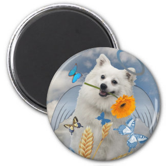 Keeshond with butterflies magnet