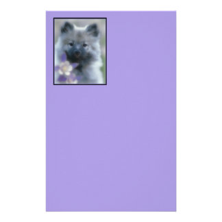 Keeshond with Columbine Stationery
